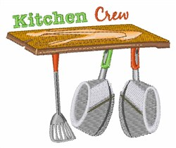 Kitchen Crew embroidery design