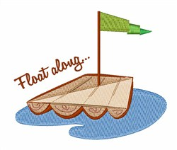 Float Along embroidery design