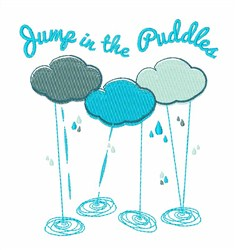 Jump In Puddle embroidery design