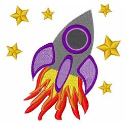 Rocket Ship embroidery design