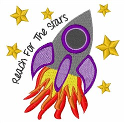 Reach For Stars embroidery design