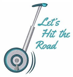 Hit The Road embroidery design