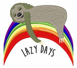 Lazy Days embroidery design