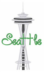 Seattle embroidery design