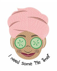 Me Time embroidery design