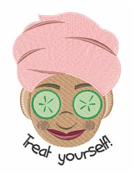 Treat Yourself embroidery design