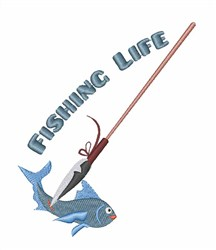 Fishing Life embroidery design