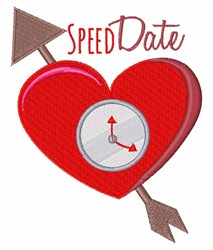 Speed Date embroidery design
