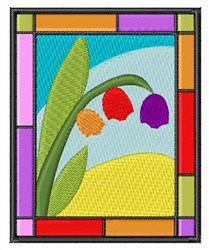 Staind Glass Tulips embroidery design