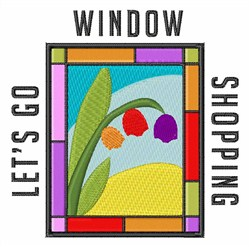 Window Shopping embroidery design