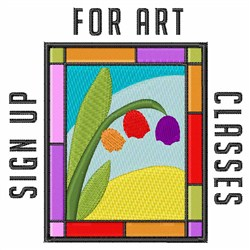 Art Classes embroidery design