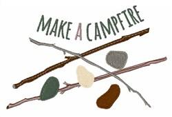 Make A Campfire embroidery design