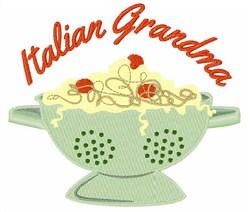 Italian Grandma embroidery design