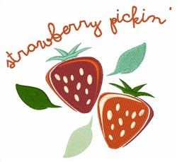 Strawberry Pickin embroidery design