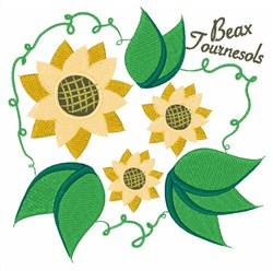 Beax Tournesols embroidery design