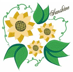 Sunshine embroidery design