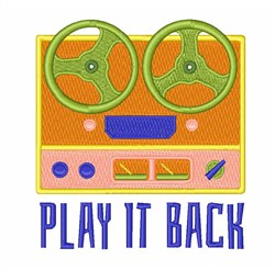 Play It Back embroidery design