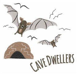 Cave Dwellers embroidery design