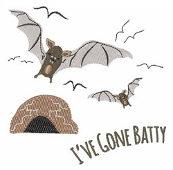 Ive Gone Batty embroidery design