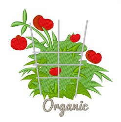 Organic embroidery design