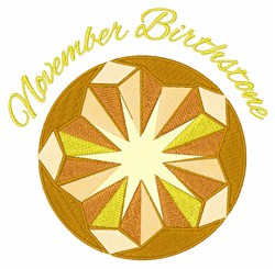 November Birthstone embroidery design