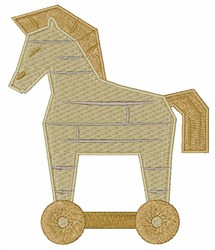 Trojan Horse embroidery design