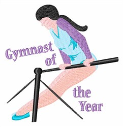Gymnast Of Year embroidery design
