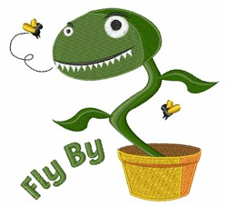 Fly By embroidery design