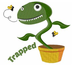 Trapped embroidery design