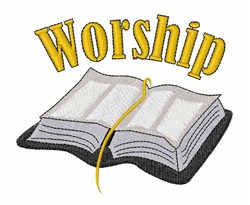 Worship embroidery design