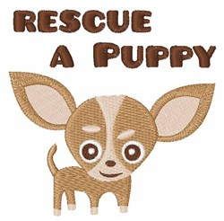 Rescue A Puppy embroidery design