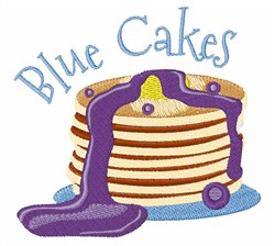 Blue Cakes embroidery design