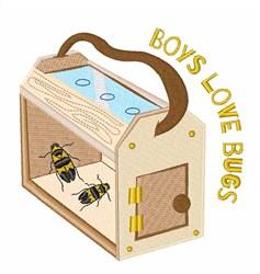 Boys Love Bugs embroidery design