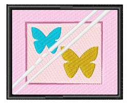 Framed Butterflies embroidery design