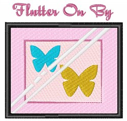 Flutter On By embroidery design
