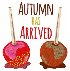 Autumn Has Arrived embroidery design
