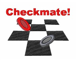 Checkmate embroidery design