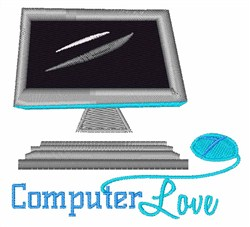 Computer Love embroidery design
