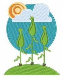 Corn Field embroidery design