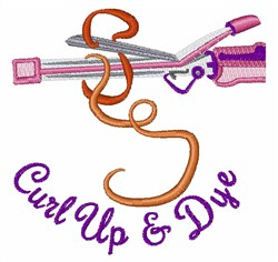 Curl Up embroidery design