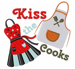Kiss The Cooks embroidery design