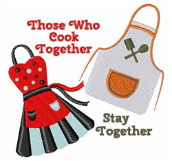 Cook Together embroidery design