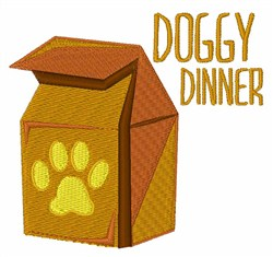 Doggy Dinner embroidery design