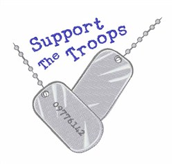 Support The Troops embroidery design