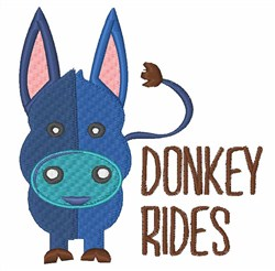 Donkey Rides embroidery design