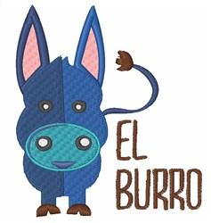 El Burro embroidery design