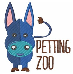 Petting Zoo embroidery design
