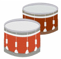 Drums embroidery design