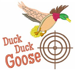 Duck Duck Goose embroidery design