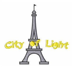 City Of Light embroidery design